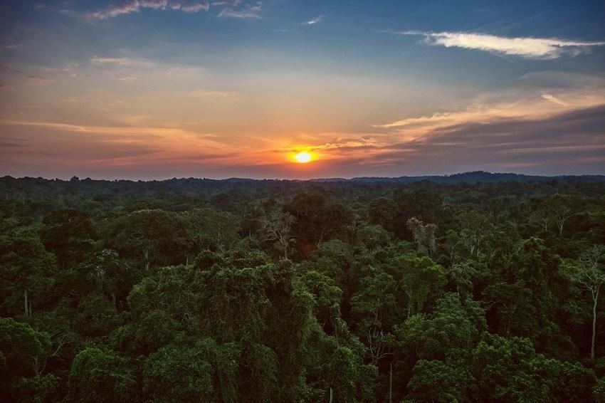 Pôr do sol no Cristalino Lodge - Foto Samuel Melim
