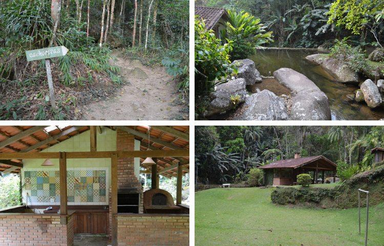 Área da cachoeira no Parador Lumiar - Viagens Bacanas