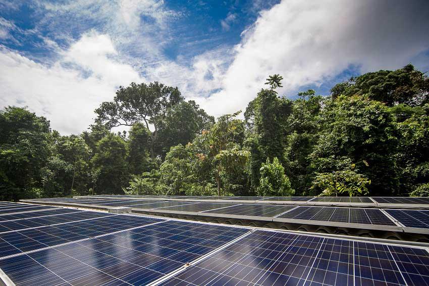 Energia solar no Cristalino Lodge - Foto crédito Samuel Melim